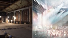 The Odeon today, left, and an artist's impression of its refurbishment