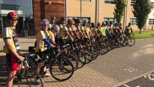 Riders getting set for a charity bike ride that will visit every rugby club in Norfolk