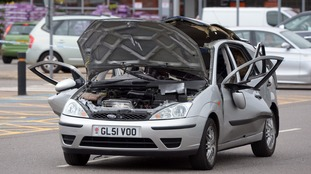 Car roof blown off after person accidentally ignited air freshener fumes with cigarette