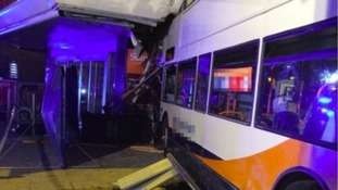 Crash involving bus