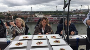 Dangling diners pay up to £150 to have food and drinks served in the sky in Bristol