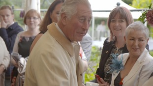 Prince Charles met people from local community groups.