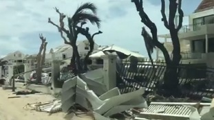 Four people have been confirmed dead on the French side of St Martin after Hurricane Irma hit