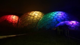 Eden Project biome transforms into rainbow ahead of first-ever LGBTQ event