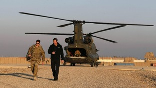 David Cameron seen earlier this month at a forward operating base in Helmand Province, Afghanistan