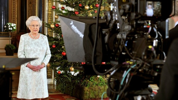 The Queen records her Christmas message