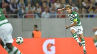 Adrien Silva captaining Sporting Lisbon.