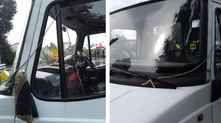 The driver was caught with string attached to his gearstick.