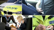 Police across Durham and Cleveland support a national seatbelt campaign.