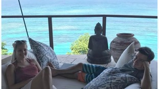 The couple were forced to evacuate Necker Island were they had been staying for two weeks.