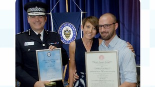 Awards for men who saved pregnant woman from knife attack
