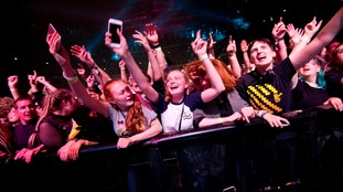 Young fans at the concert