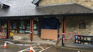 Cash machine theft damages shop in Sedbergh