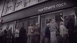 Thousands queued to get their savings out of Northern Rock