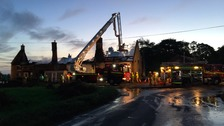 Firefighters at the scene of the blaze at The Ingham Swan.