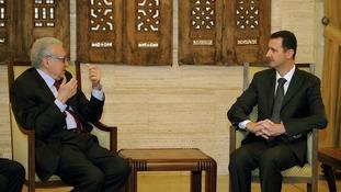 Syria envoy Lakhdar Brahimi met President Assad in Damascus