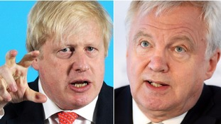 Foreign secretary Boris Johnson and Brexit secretary David Davis