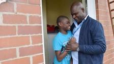 Moise Kanana with his son Daniel