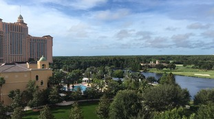 Still sun in the skies in Orlando on Saturday morning and Irma moves closer