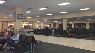 Sanford airport empties as the airport prepares to close until Tuesday.