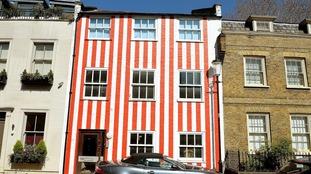 The multi-million pound townhouse is definitely vibrant.