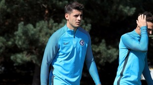 group of Chelsea supporters chanted about Blues striker Alvaro Morata during the win over Leicester on Saturday.