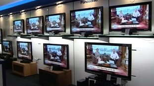 Televisions in a shop.