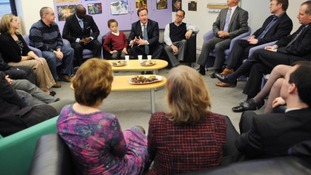David Cameron meeting parents who have or are about to adopt in west London earlier this year