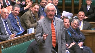 Dennis Skinner amongst Labour rebels to vote for government's Brexit bill
