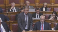 Deputy Andrew Lewis delivers personal statement in the States Chambers