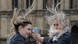 The winds are likely to be the strongest since Storm Doris in February.