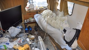 The squalid conditions the men were forced to live in