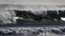 Storm Aileen has begun whipping up the waves in the North Sea.