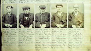The Peaky Blinders, some of which are thought to be these men here. stayed at the lock-up.