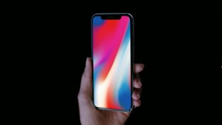 The iPhone X features an edge-to-edge display.