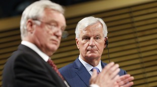 David Davis (l) admitted Brexit negotiations were getting 'tense'.