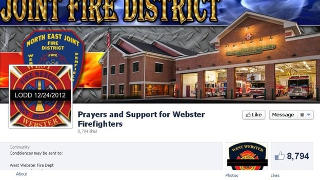 The Prayers and Support for Webster Firefighters Facebook page