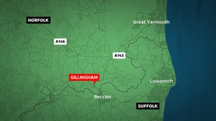 A driver was killed as he drove along the A143 near Gillingham.