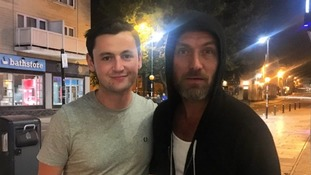 Jude Law spotted in Bath Cinema