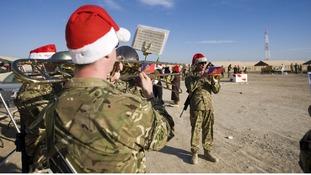 Christmas carols at Camp Bastion