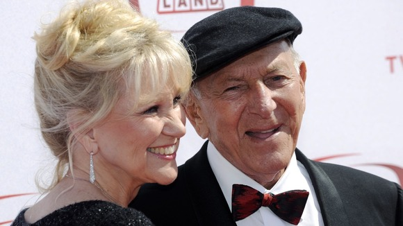 Actor Jack Klugman and his wife Peggy Crosby