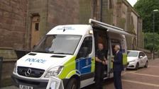 Image of mobile police station in Derby