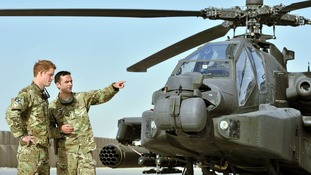Prince Harry seen in September at Camp Bastion in Afghanistan