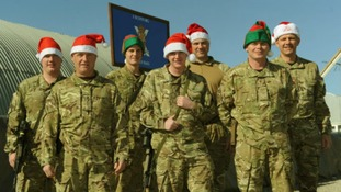 Troops on tour in Afghanistan celebrate Christmas