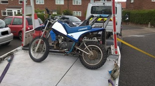 One of the bikes seized