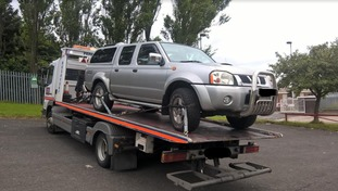 A car was also seized by police