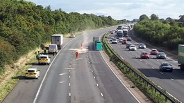 Man dies after being struck by several vehicles on M5
