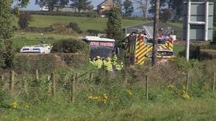 Eight school children hurt in Donegal bus crash