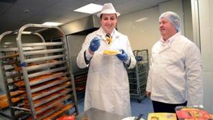 Ben Houchen, Tees Valley Mayor with Geoff Johns, Director, Jeff the Chef Foods Ltd