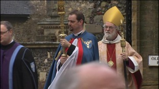The Archbishop of Canterbury, Dr Rowan Williams, at Canterbury Cathedral
